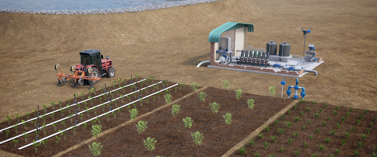Precision irrigation products for open field