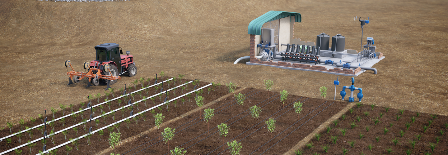 Precision irrigation products for orchards